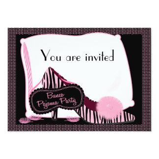 Invitación del fiesta de pijama de Bunco