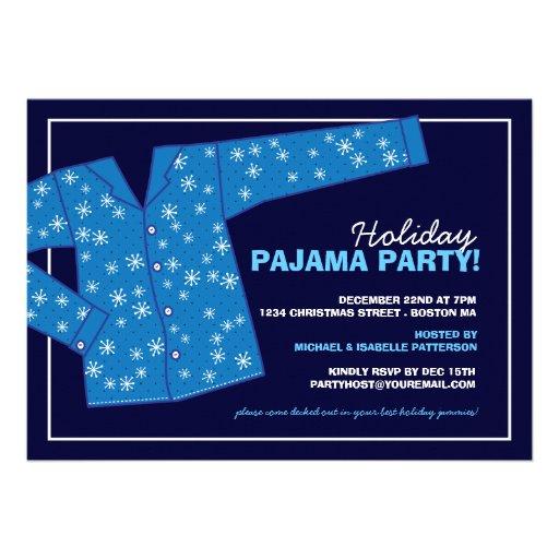 Invitación del fiesta de pijama del día de fiesta