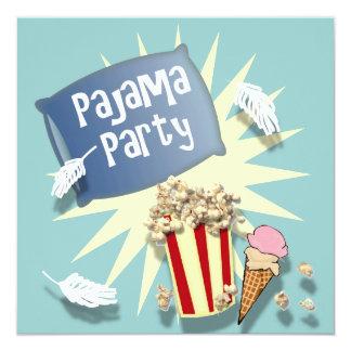 Invitación del fiesta de pijama del Sleepover de