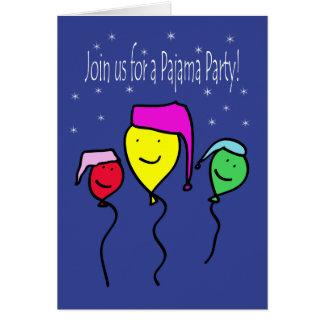 Invitación del fiesta de pijama tarjetas