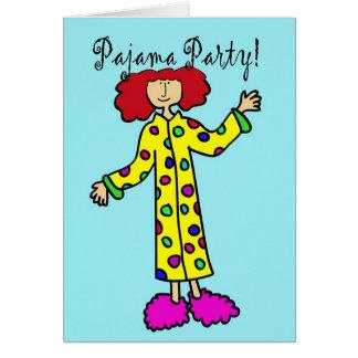 Invitación del fiesta de pijama felicitaciones
