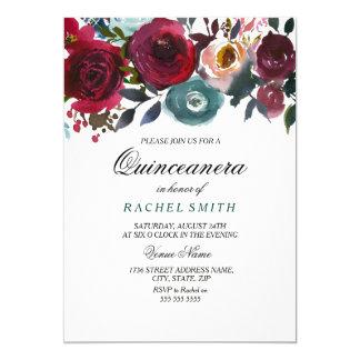 Invitación del fiesta de Quinceanera de las flores