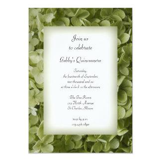 Invitación del fiesta de Quinceanera del Hydrangea