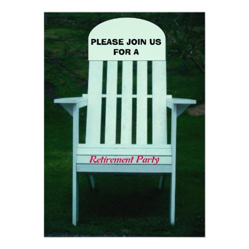 Invitación del fiesta de retiro
