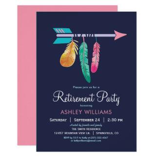 Invitación del fiesta de retiro de Boho