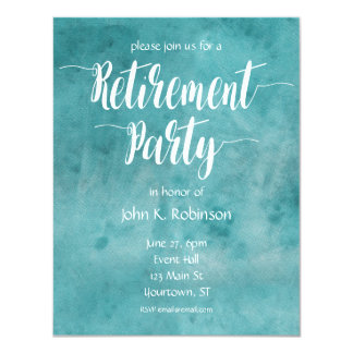Invitación del fiesta de retiro de la acuarela