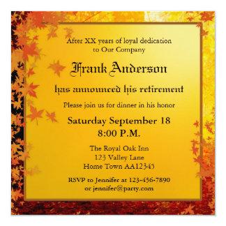 Invitación del fiesta de retiro de la caída
