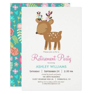 Invitación del fiesta de retiro de los ciervos del