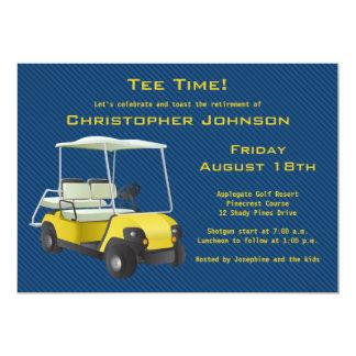 Invitación del fiesta de retiro del carro de golf invitación 12,7 x 17,8 cm