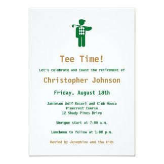 Invitación del fiesta de retiro del golf del oro