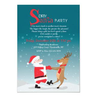 Invitación del fiesta de Santa del baile
