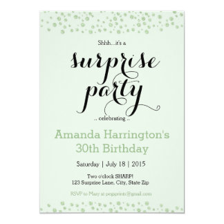 Invitación del fiesta de sorpresa de la verde