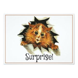 Invitación del fiesta de sorpresa, tarjeta del