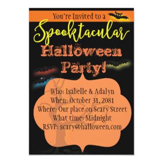 Invitación del fiesta de Spooktacular Halloween