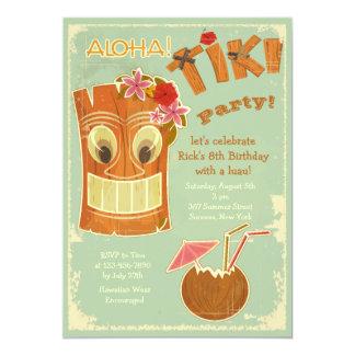 Invitación del fiesta de Tiki de la hawaiana