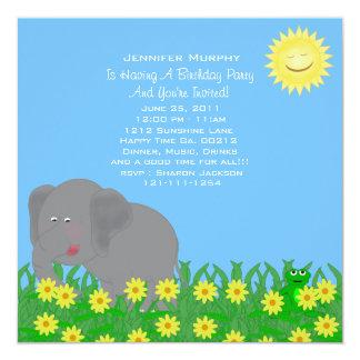 Invitación del fiesta del animal salvaje invitación 13,3 cm x 13,3cm