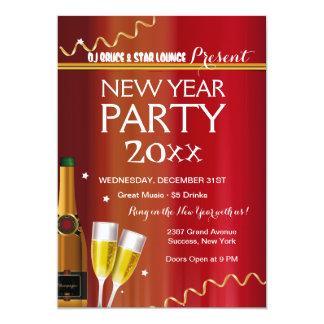 Invitación del fiesta del Año Nuevo
