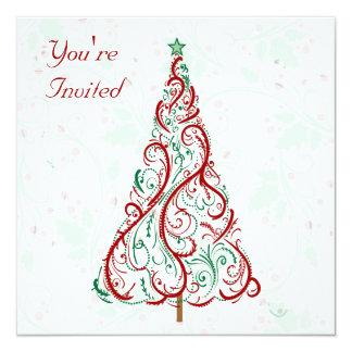 Invitación del fiesta del árbol del día de fiesta