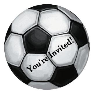 Invitación del fiesta del balón de fútbol