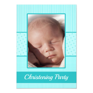 Invitación del fiesta del bautizo del bebé