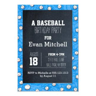 Invitación del fiesta del béisbol de la pizarra