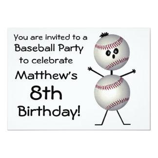 Invitación del fiesta del béisbol del cumpleaños