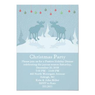 Invitación del fiesta del ciervo-Navidad del