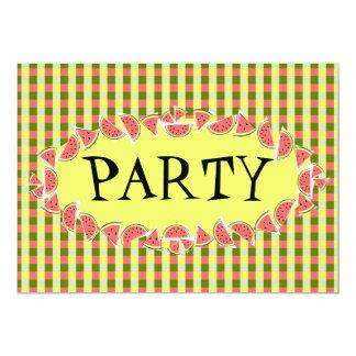 Invitación del fiesta del control de la sandía
