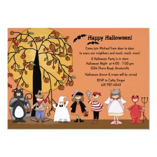 Invitación del fiesta del desfile de Halloween Invitación 12,7 X 17,8 Cm