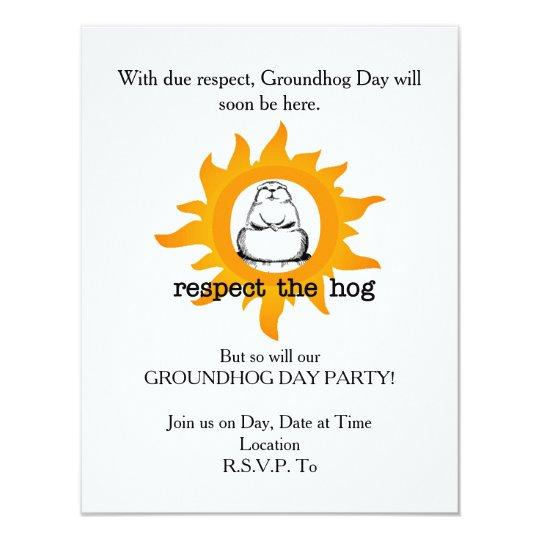 Invitación del fiesta del día de la marmota del
