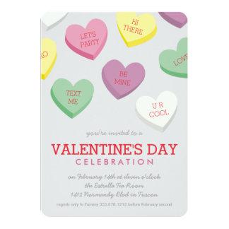 Invitación del fiesta del día de San Valentín del