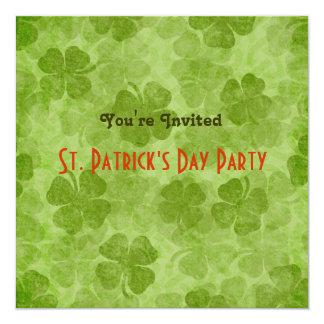 Invitación del fiesta del día de St Patrick del