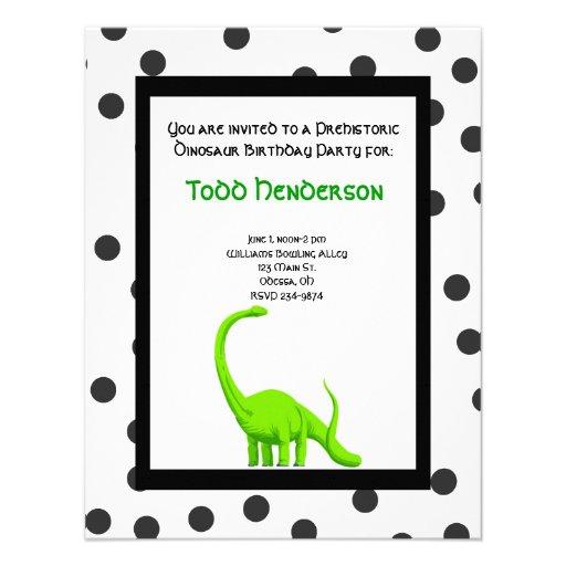 Invitación del fiesta del dinosaurio