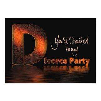 Invitación del fiesta del divorcio (la palabra invitación 12,7 x 17,8 cm
