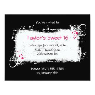 Invitación del fiesta del dulce 16 invitación 10,8 x 13,9 cm