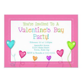 Invitación del fiesta del el día de San Valentín,