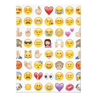invitación del fiesta del emoji