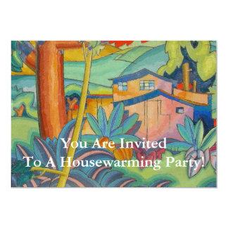 Invitación del fiesta del estreno de una casa - invitación 12,7 x 17,8 cm
