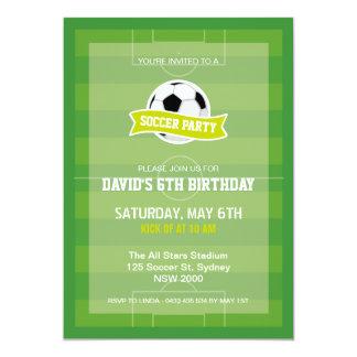 Invitación del fiesta del fútbol