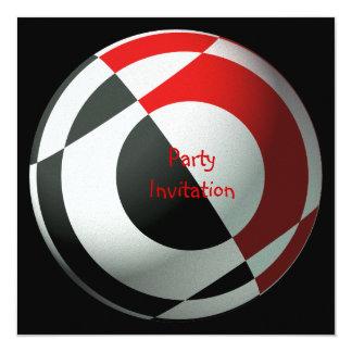 Invitación del fiesta del fútbol invitación 13,3 cm x 13,3cm