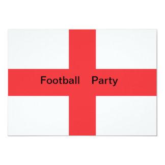 Invitación del fiestadel fútbol de bandera de