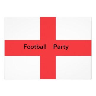 Invitación del fiestadel fútbol de bandera de Ing