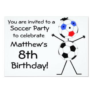 Invitación del fiesta del fútbol del cumpleaños