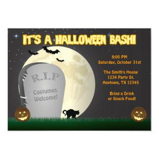 Invitación del fiesta del golpe de Halloween