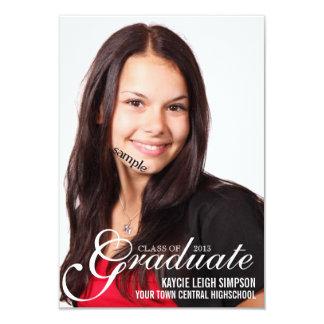 Invitación del fiesta del graduado con la foto del