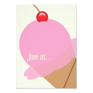 Invitación del fiesta del helado del chicle del invitación 12,7 x 17,8 cm