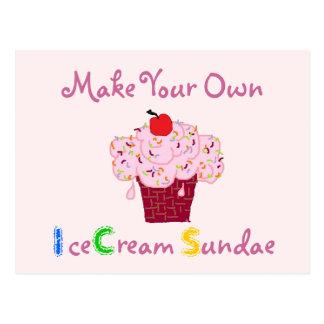 Invitación del fiesta del helado del helado