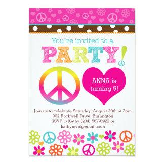 Invitación del fiesta del Hippie de la paz y del