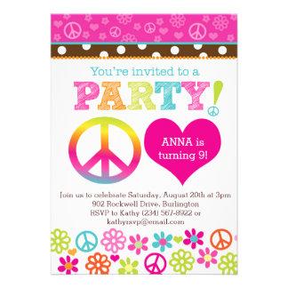 Invitación del fiesta del Hippie de la paz y del a