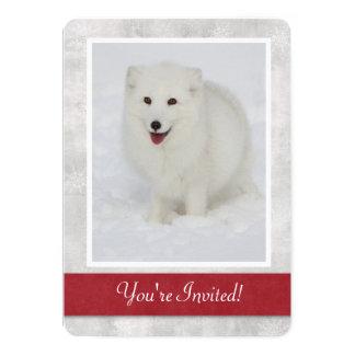 Invitación del fiesta del invierno del Fox ártico